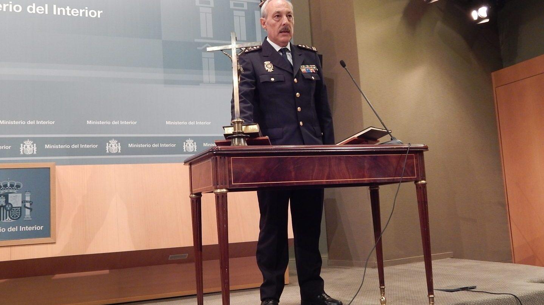 Juan Carlos Ortiz Argüelles, cuando juró el cargo de comisario general de Extranjería y Fronteras en octubre de 2016.
