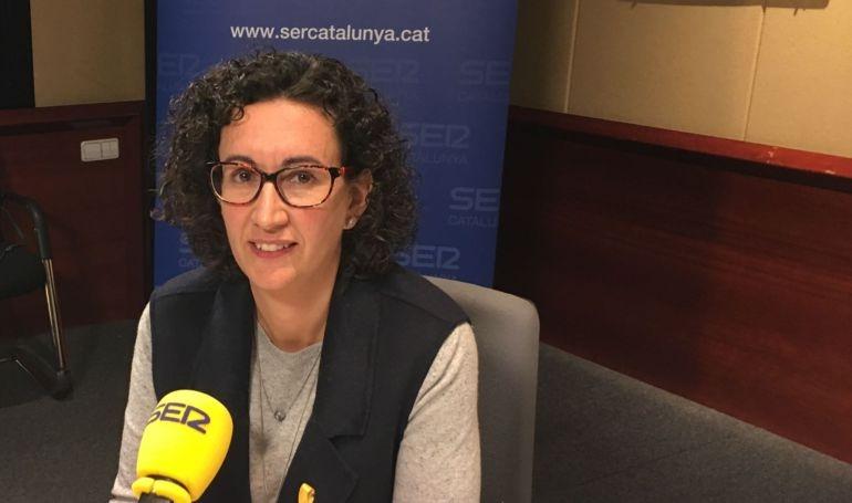 Marta Rovira, en los estudios de la Cadena Ser.