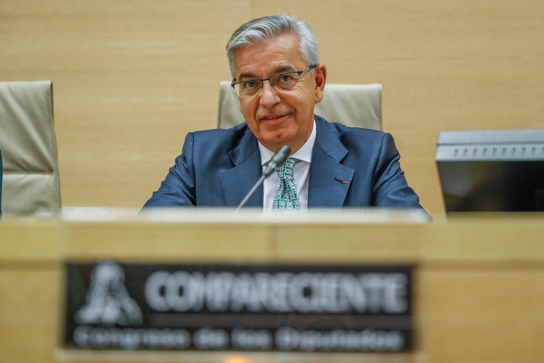 El coronel jefe de la UCO, Manuel Sánchez Corbí, durante una reciente comparecencia en el Congreso.