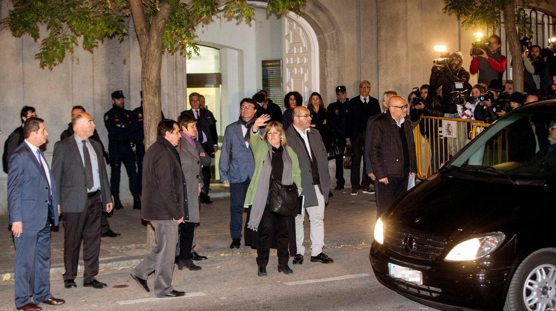 Corominas, Guinó, Barrufet y Simó (de dcha. a izq.) salen del Tribunal Supremo.