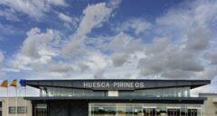 El aeropuerto de Huesca-Pirineos, que recibe menos de un pasajero al día.
