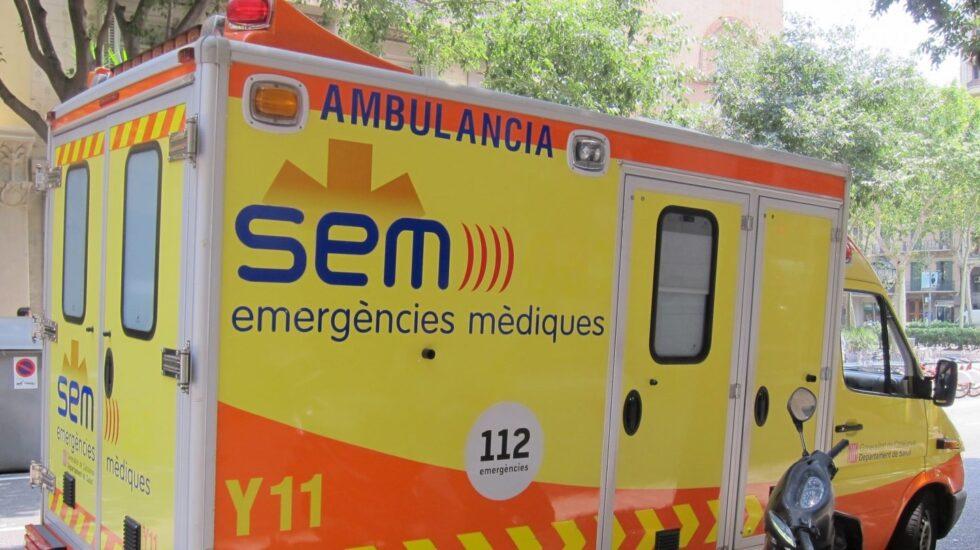 Ambulancia del Servicio de Emergencias Médicas (SEM) de la Generalitat.
