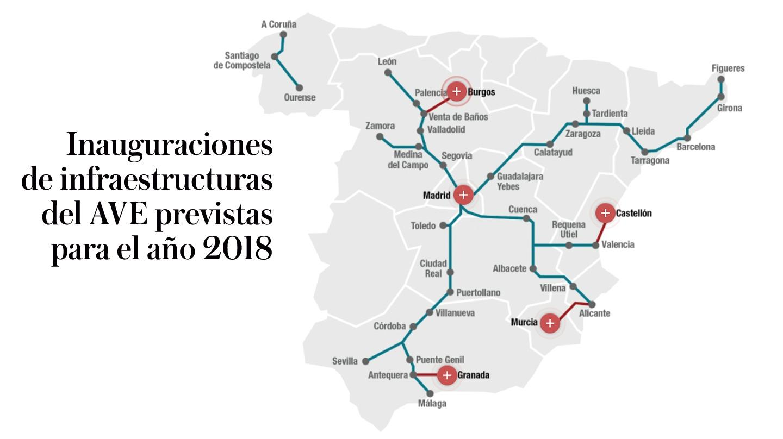 Mapa Ave España 2019.Mapa Ave 2018 Mapa