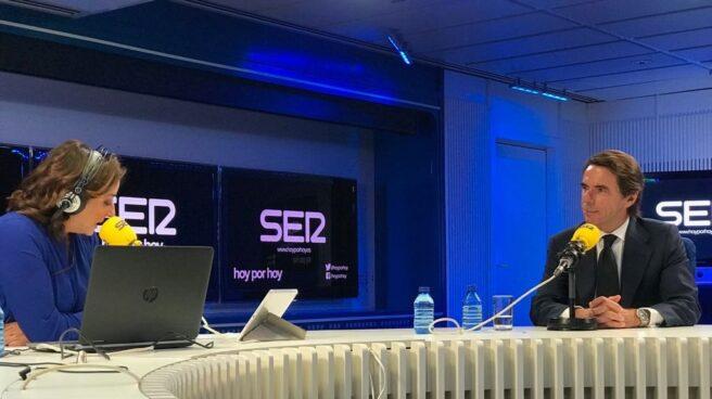El ex presidente José María Aznar, en una entrevista en la Cadena Ser.