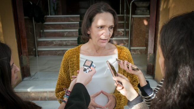 Carolina Bescansa, este viernes en Sevilla.