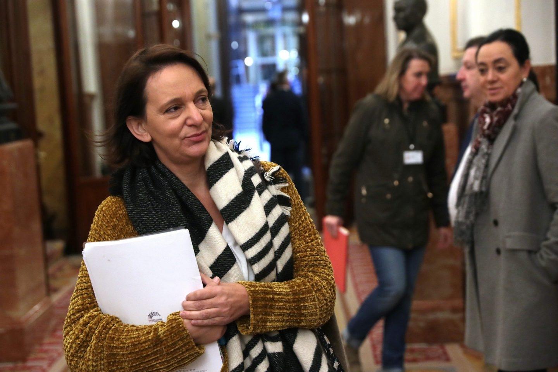 Carolina Bescansa, este jueves en el Congreso de los Diputados.