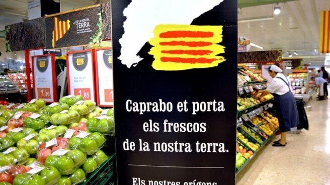 Productos catalanes en un supermercado.