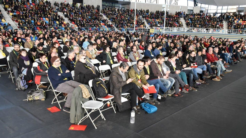 Imagen de una asamblea de la CUP.