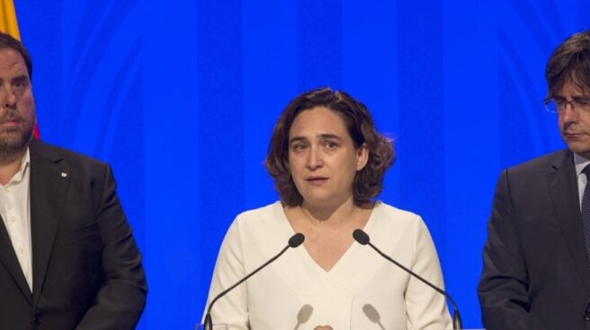 Oriol Junqueras y Ada Colau