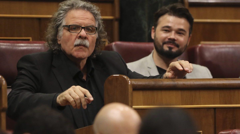 Tardá y Rufián (ERC) durante una sesión parlamentaria