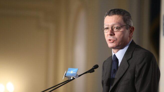 Alberto Ruiz-Gallardón, en una conferencia en Madrid.
