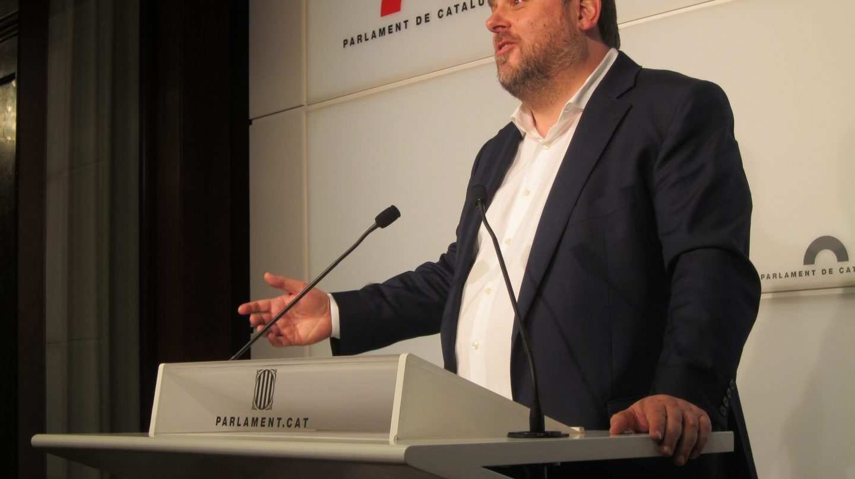 Oriol Junqueras, en un acto durante su etapa como vicepresidente de la Generalitat.