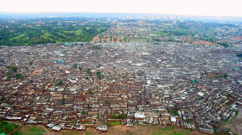 Gueto de kibera en Nairobi.