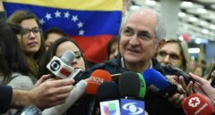 Ledezma, opositor venezolano, a su llegada a Madrid.