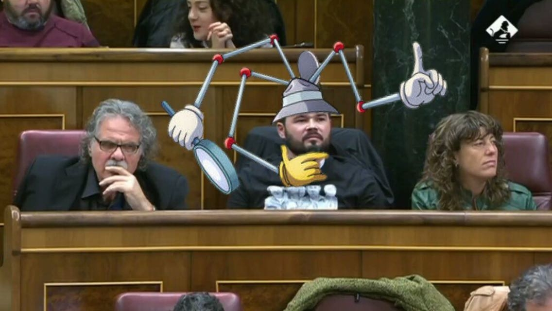 Meme de Grabriel Rufián como Inpector Gadget
