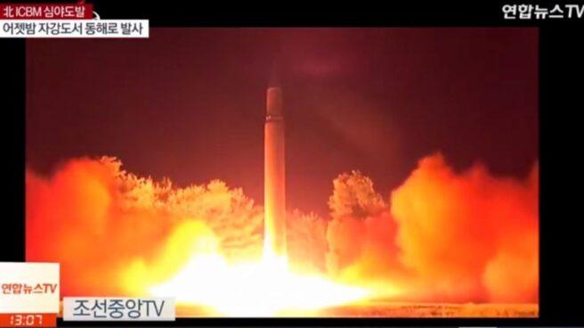 Una imagen del penúltimo ensayo norcoreano.
