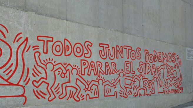 Mural contra el sida en Barcelona