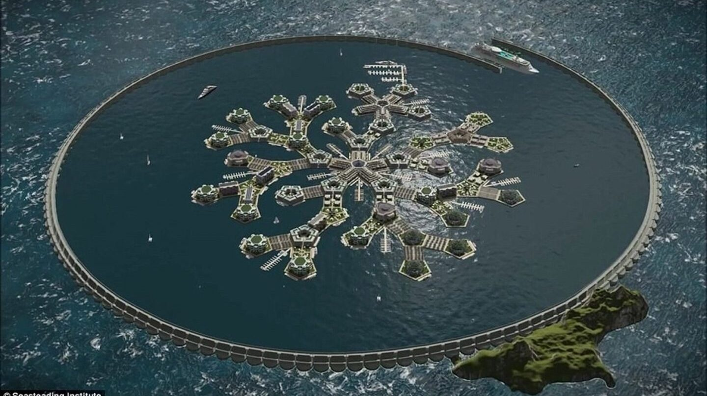 Diseño de país flotante