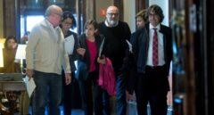 Carme Forcadell, antes de la reunión del Parlament.