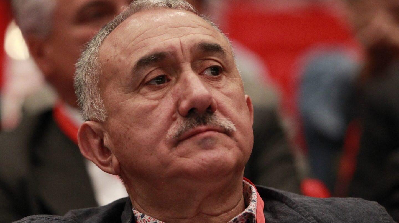 El secretario general de UGT, Pepe Álvarez, durante una reunión del sindicato.