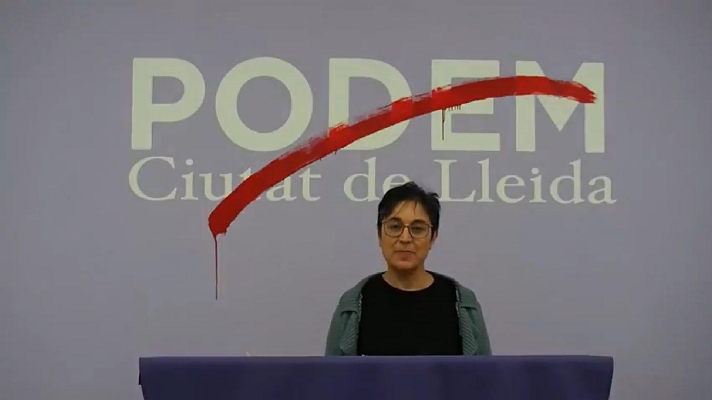 El 'adeu' de Podem Lleida a Pablo Iglesias.
