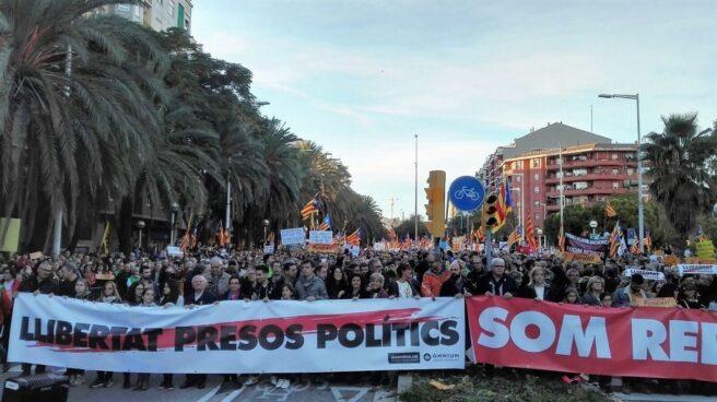 Manifestación a favor de los Jordis.