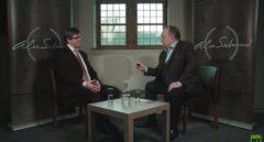 Carles Puigdemont, durante la entrevista en Russia Today.