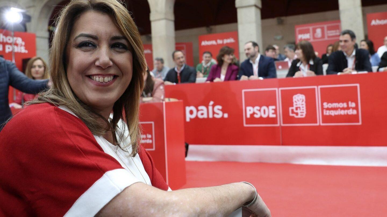 La presidenta andaluza, Susana Díaz, durante la reunión del Comité Federal del PSOE.