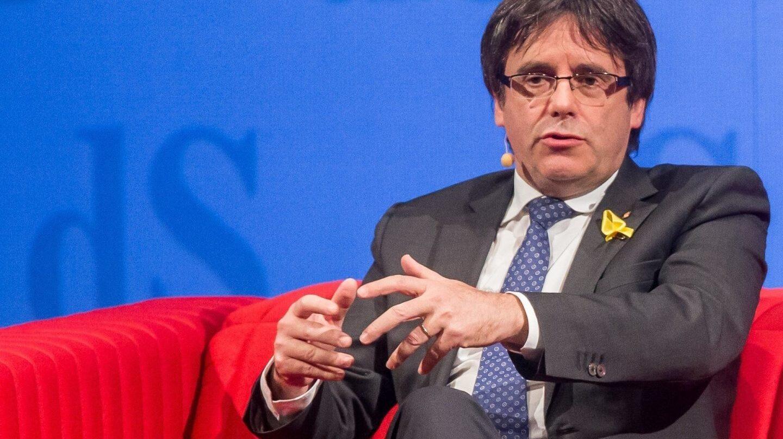 Carles Puigdemont, en una rueda de prensa en Bélgica.