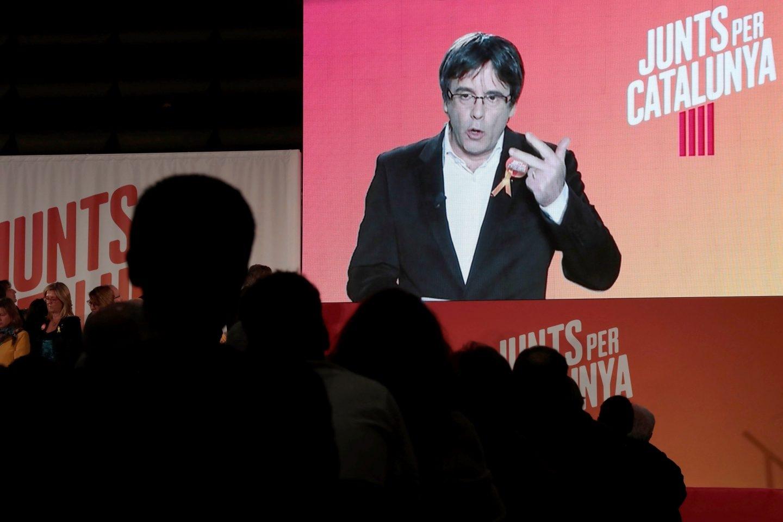 Puigdemont, en el arranque de campaña de Junts per Catalunya.