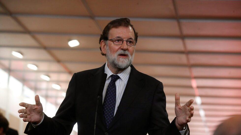 Mariano Rajoy, a su llegada al Congreso