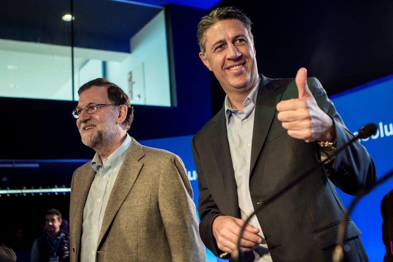 Rajoy y Albiol el pasado día 8 de campaña en Cataluña