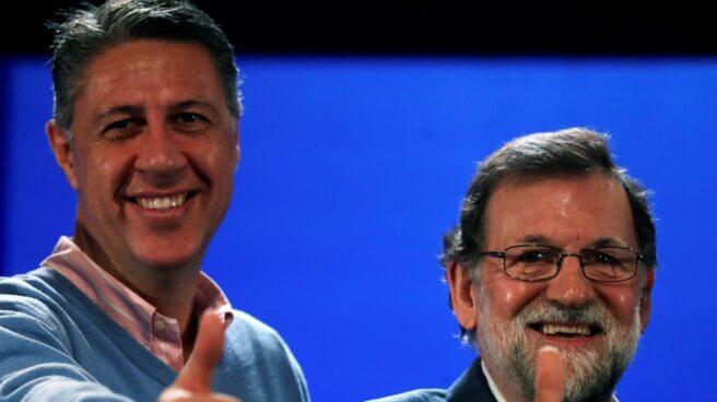 Rajoy junto a Albiol este domingo en Salou (Tarragona)