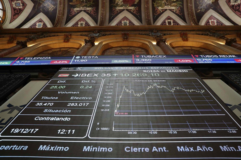 El Ibex cae por la incertidumbre generada por las elecciones catalanas.