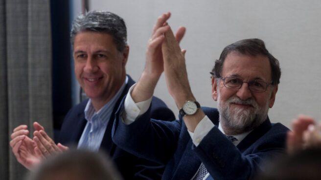 Rajoy junto a Albiol en el último día de campaña