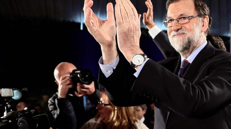 Rajoy, en la cena navideña del PP madrileño