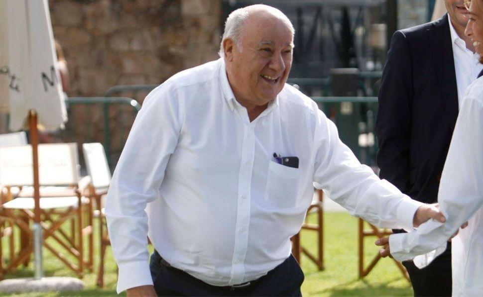 Amancio Ortega lidera el ránking de dividendos entre las grandes fortunas.