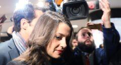 Inés Arrimadas, en el hotel de Barcelona donde sigue el escrutinio del 21-D.