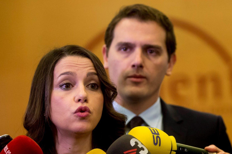 Inés Arrimadas y Albert Rivera, en un acto de Ciudadanos.