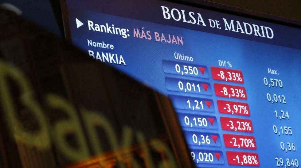 Bankia tiene que triplicar su precio en bolsa para devolver todas las ayudas públicas.