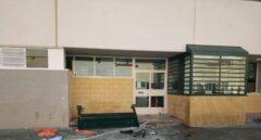 Desperfectos en el patio del centro penitenciario de Archidona (Málaga), utilizado como 'CIE' provisional a finales de año.