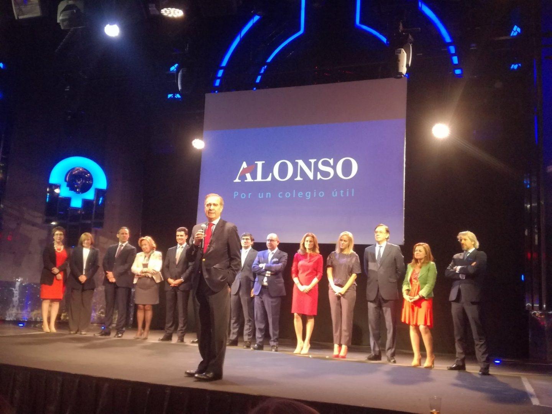 José María Alonso, dirigiéndose a los invitados en la fiesta de presentación de su candidatura celebrada en el Teatro Barceló el pasado 25 de octubre.