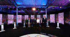 Debate electoral organizado por La Sexta, con los candidatos Josep Rull (JxCat), Carles Mundó (ERC), Inés Arrimadas (Ciudadanos), Miquel Iceta (PSC), Xavier Domènech (Catalunya en Comú-Podem), Xavier García Albiol (PPC) y Vidal Aragonés (CUP), esta noche en Barcelona.