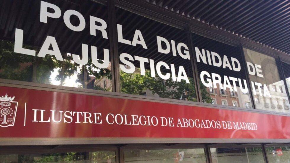 Fachada del Colegio de Abogados de Madrid.