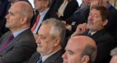 Manuel Chaves, José Antonio Griñán, Gaspar Zarrías y Javier Guerrero, en una de las seisiones del juicio.