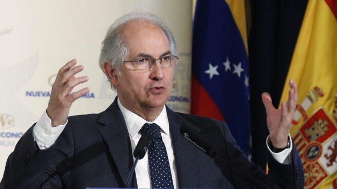 El alcalde de Caracas, Antonio Ledezma, en su intervención en Madrid.