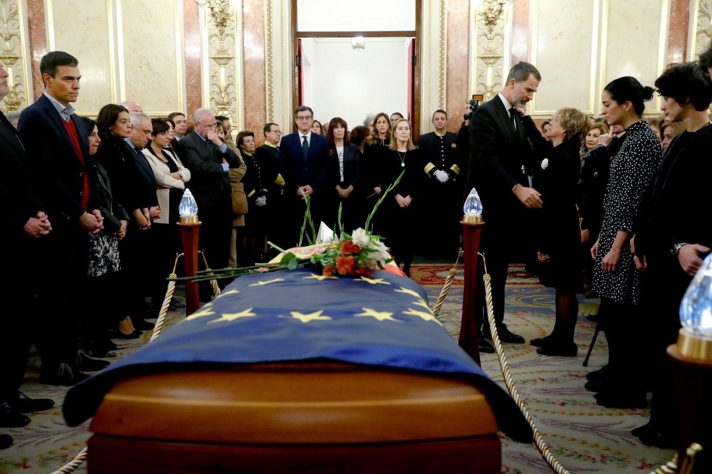 El Rey, en el funeral de Manuel Marín en el Congreso.