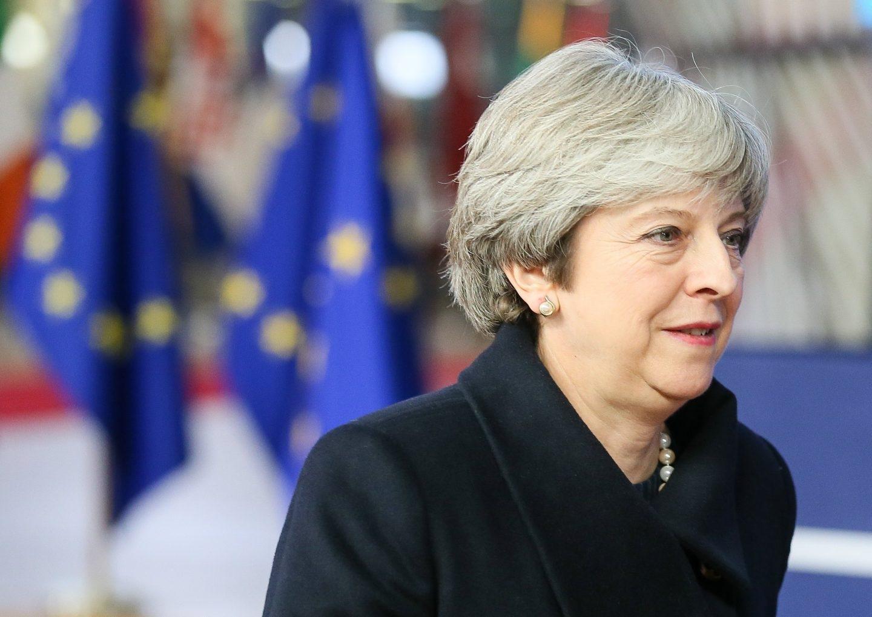 M;ay, primera ministra británica, en Bruselas.