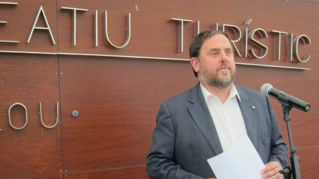 Oriol Junqueras, en un acto público durante su etapa como consejero de Economía y Hacienda.