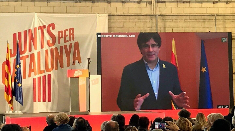 Carles Puigdemont, en un acto de Junts Pel Catalunya